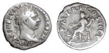Ancient Coins - Trajan. AR denarius, Rome mint. Struck 98-99 AD. Concordia