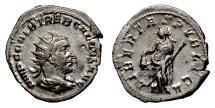 Ancient Coins - Trebonianus Gallus. AR Antoninianus, Milan mint, 251-253 AD. Libertas