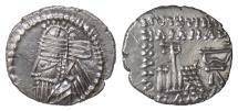 Ancient Coins - PARTHIA, Osroes II. AR drachm, Ekbatana mint, circa 190 AD