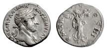 Ancient Coins - HADRIAN. AR denarius, Rome mint, Struck circa 119-125 AD