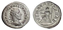 Ancient Coins - PHILIP I. AR antoninianus, Rome mint. Struck 245-247 AD. Roma