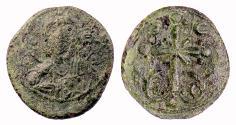 Ancient Coins - BYZANTINE, Anonymous. AE follis (1078-1081AD?). Christ facing / Latin cross