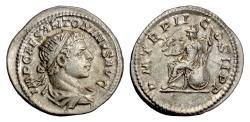 Ancient Coins - Elagabalus. AR Antoninianus, Rome mint. Struck AD 219. Roma