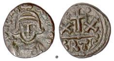 Ancient Coins - Byzantine, CONSTANS II. AE 20 nummi, Carthage mint. Struck 647-652 AD