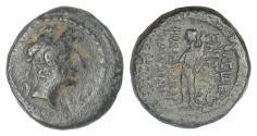 Ancient Coins - SELEUKID KINGS, Antiochos XII. AE denom D, Damaskos mint, circa 85-83 BC. RARE