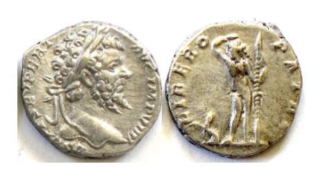 Ancient Coins - Septimius Severus. AR denarius. Rome mint. Struck AD 197. SCARCE