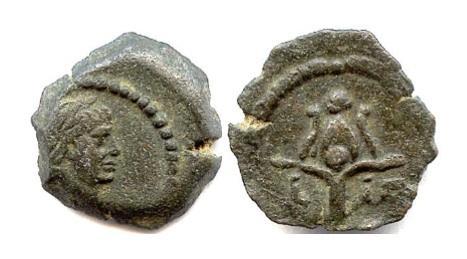 Ancient Coins - Roman EGYPT, Alexandria. TRAJAN. AE dichalkon