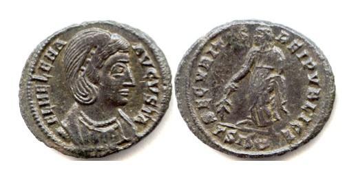 Ancient Coins - HELENA, Augusta, AD 324-330. AE follis, Siscia mint. Struck AD 328-329