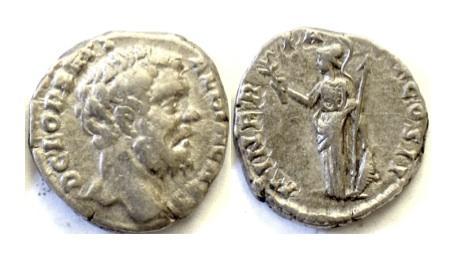Ancient Coins - ROMAN, CLODIUS ALBINUS as Caesar. AR denarius. Rome mint, Struck AD 194-5. SCARCE