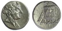 Ancient Coins - PONTOS, Amisos. Mithradates VI. AE 20, circa 85-65 BC.  Dionysus / Cista mystica
