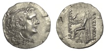 Ancient Coins - KINGS of MACEDON. Alexander III 'the Great'. AR tetradrachm. Odessos mint. Struck circa 80-71 BC.  Face of Mithradates VI of Pontos / Zeus