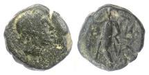 Ancient Coins - SELEUKID, Antiochos III 'the Great'. AE denom D, Antioch 222-187 BCE. Apollo