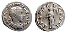 Ancient Coins - Gordian III. AR Denarius. Rome mint. Struck AD 241-242. Salus