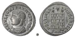 Ancient Coins - Constantius II. AE follis, Heraclea mint. Struck 326 AD. Campgate