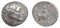 Ancient Coins - Alexander III 'the Great'. AR tetradrachm, Miletus, circa 300-280 BC. Herakles / Zeus