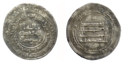 Ancient Coins - Early Islamic, ABBASID. AR dirham, late 800s -early 900s AD