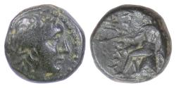 Ancient Coins - SELEUKID KINGS, Antiochos III 'the Great'. AE denomination C, Antioch, 222-187 BC. Apollo