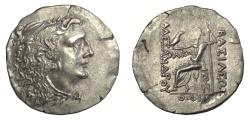 Ancient Coins - KINGS of MACEDON. Alexander III 'the Great'. AR tetradrachm. Odessos mint. Struck circa 80-71 BC.  Face of Mithradates VI of Pontos / Zeus