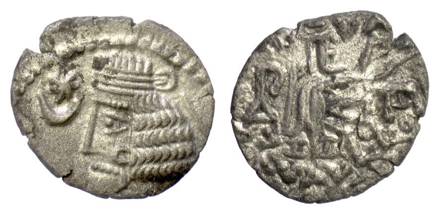 Ancient Coins - KINGS of PARTHIA, Vardanes I. AR drachm, Mithradatkart mint, circa AD 40-45. Scarce mint