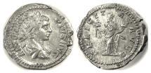 Ancient Coins - CARACALLA. AR denarius, Rome mint. Struck AD 205