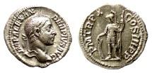 Ancient Coins - Severus Alexander. AR denarius. Rome mint, struck AD 231. Mars