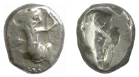 Ancient Coins - Achaemenid Persian Empire, Time of Xerxes II. AR siglos, circa 455-420 BC