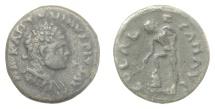 Ancient Coins - CARACALLA. Roman Provincial, TROAS, Alexandria. AE as, 198-217 AD. Apollo