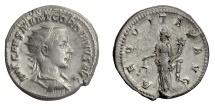 Ancient Coins - Gordian III. AR Antoninianus, Rome mint, 239 AD. Aequitas