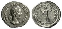 Ancient Coins - MACRINUS. AR denarius, struck October 217-March 218 AD. Jupiter