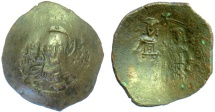 Ancient Coins - BYZANTINE, ALEXIUS III. BI Trachy, Constantinople mint. Christ facing