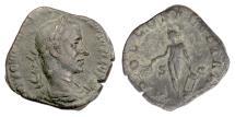 Ancient Coins - Trebonianus Gallus. AE sestertius, Rome mint. APOLLO SALVTTARI. Scarce