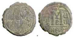 Ancient Coins - BYZANTINE, Maurice Tiberius. AE Follis. Theoupolis (Antioch) mint, 590/1 AD