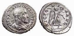 Ancient Coins - Maximinus I. AR denarius, Rome mint. Struck 235-236 AD. Victory