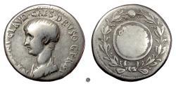 Ancient Coins - NERO as Caesar. AR cistophor, Ephesus mint, struck 51 AD  under Claudius. Scarce
