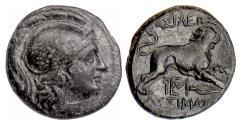 Ancient Coins - Thrace, LYSIMACHOS. AE unit, 305-281 BC. Athena / Lion