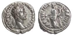 Ancient Coins - Commodus. AR denarius, Rome mint, struck 182 AD. Aequitas