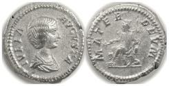 Ancient Coins - JULIA DOMNA.  AR denarius. Rome mint. Struck circa AD 205