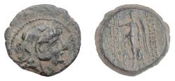 Ancient Coins - SELEUKID KINGS, Alexander II Zabinas. AE denomination B, Antioch, 126-125 BC. Nike