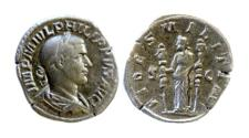 Ancient Coins - PHILIP I, AD 244-249. AE sestertius. Rome mint. Struck AD 244
