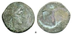 Ancient Coins - SELEUKID KINGS, Alexander I Balas. AE denom B, Apameia on the Axios mint, 150/149 BC. Rare