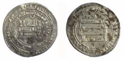 Ancient Coins - ABBASID, al-Mu'tadid.  AR dirham, 282 AH (895 AD)