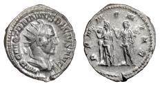 Ancient Coins - Trajan Decius. AR Antoninianus, Rome mint, struck 250 AD