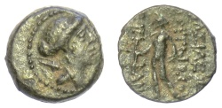 Ancient Coins - SELEUKID KINGS, Antiochos VIII Epiphanes. AE denomination C, Antioch mint, first reign, 121-113 BC