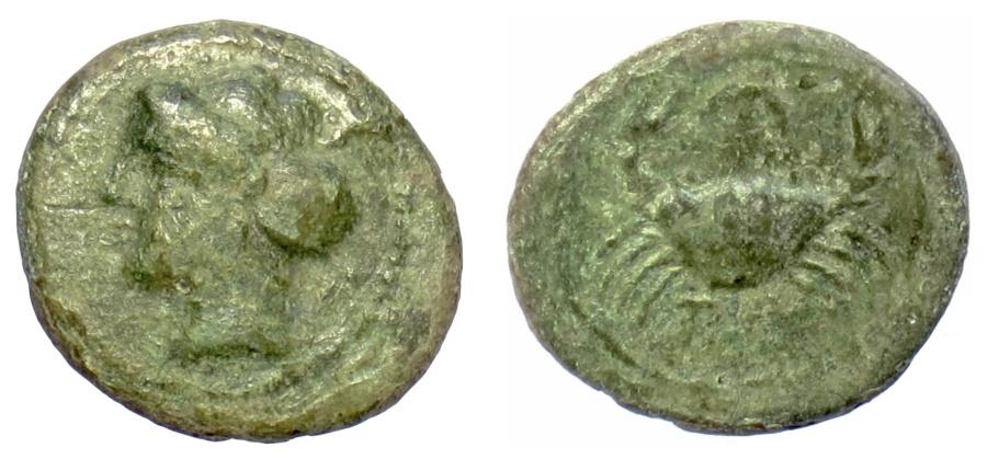 Ancient Coins - BRUTTIUM, Terina. AE 16, circa 350-275 BC