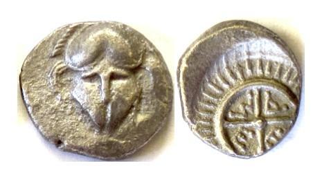 Ancient Coins - THRACE, Mesembria. AR Diobol, circa Fourth Century BC