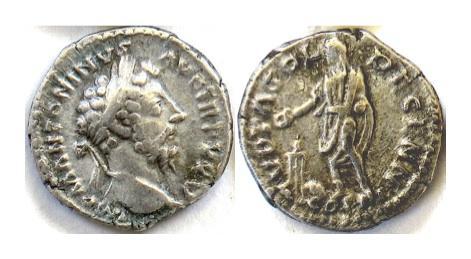 Ancient Coins - MARCUS AURELIUS. AR denarius. Rome mint. AD 171. SCARCE