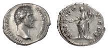 Ancient Coins - Antoninus Pius. AR Denarius, Rome mint. Struck under Hadrian, 138 AD. Concordia