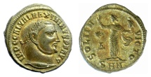 Ancient Coins - MAXIMINUS II. AE follis, Nicomedia mint, 311-313 AD. Sol. Nearly as struck