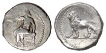 Ancient Coins - PERSIA, Alexandrine Empire. AR Stater, Babylon mint, circa  328-311 BC