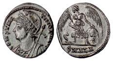 Ancient Coins - Constantinople City Commemorative, AE follis, Alexandria mint, 333-335 AD